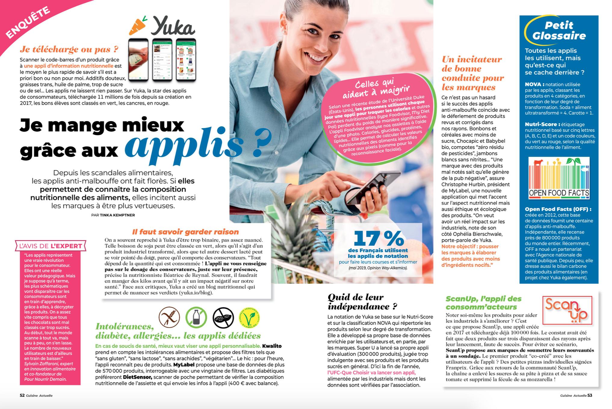 Capture d'écran 2019 08 14 à 11.38.00 - Avis d'expert dans le dossier « Je mange mieux grâce aux applis ? » de Cuisine Actuelle