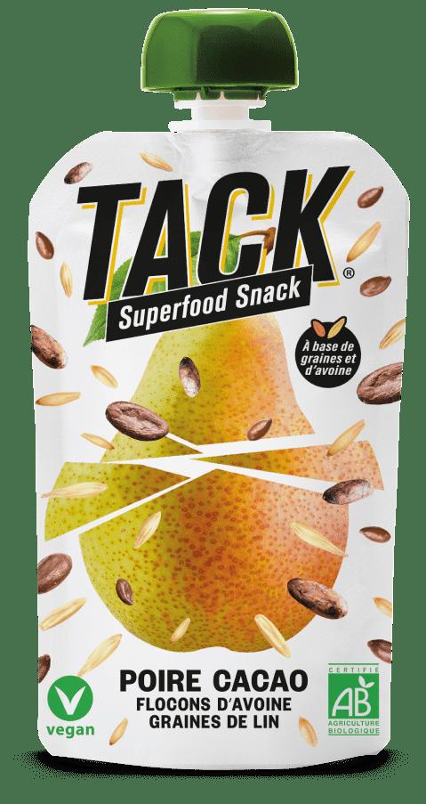 tack pear - La révolution du petit déjeuner avec TACK® Superfood Snack