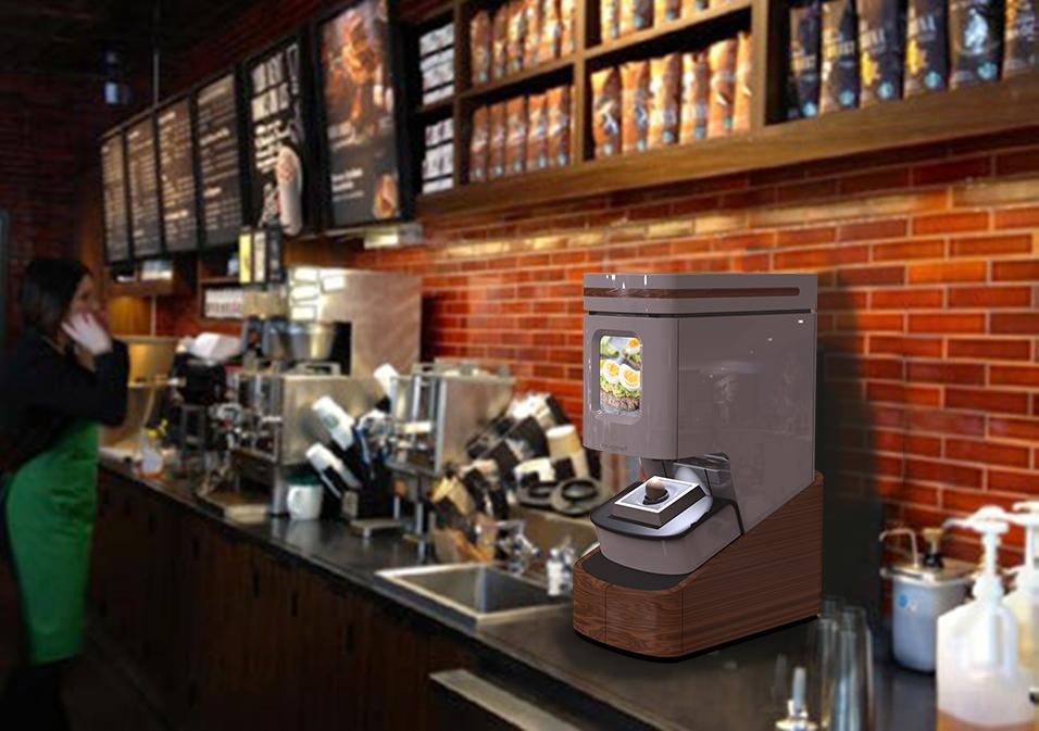 Eggcheff Starbucks render - Cuire son oeuf en 1 minute dans son supermarché