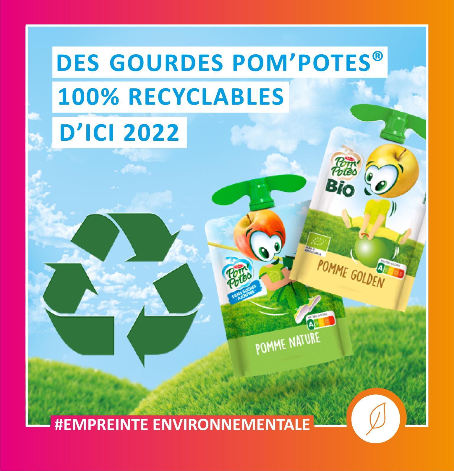 0 1 - Pom'Potes® : des gourdes 100% recyclables d'ici 2 ans
