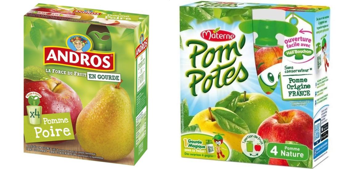 gourdes - Andros revendique son avance sur Pom'Potes pour les gourdes recyclables