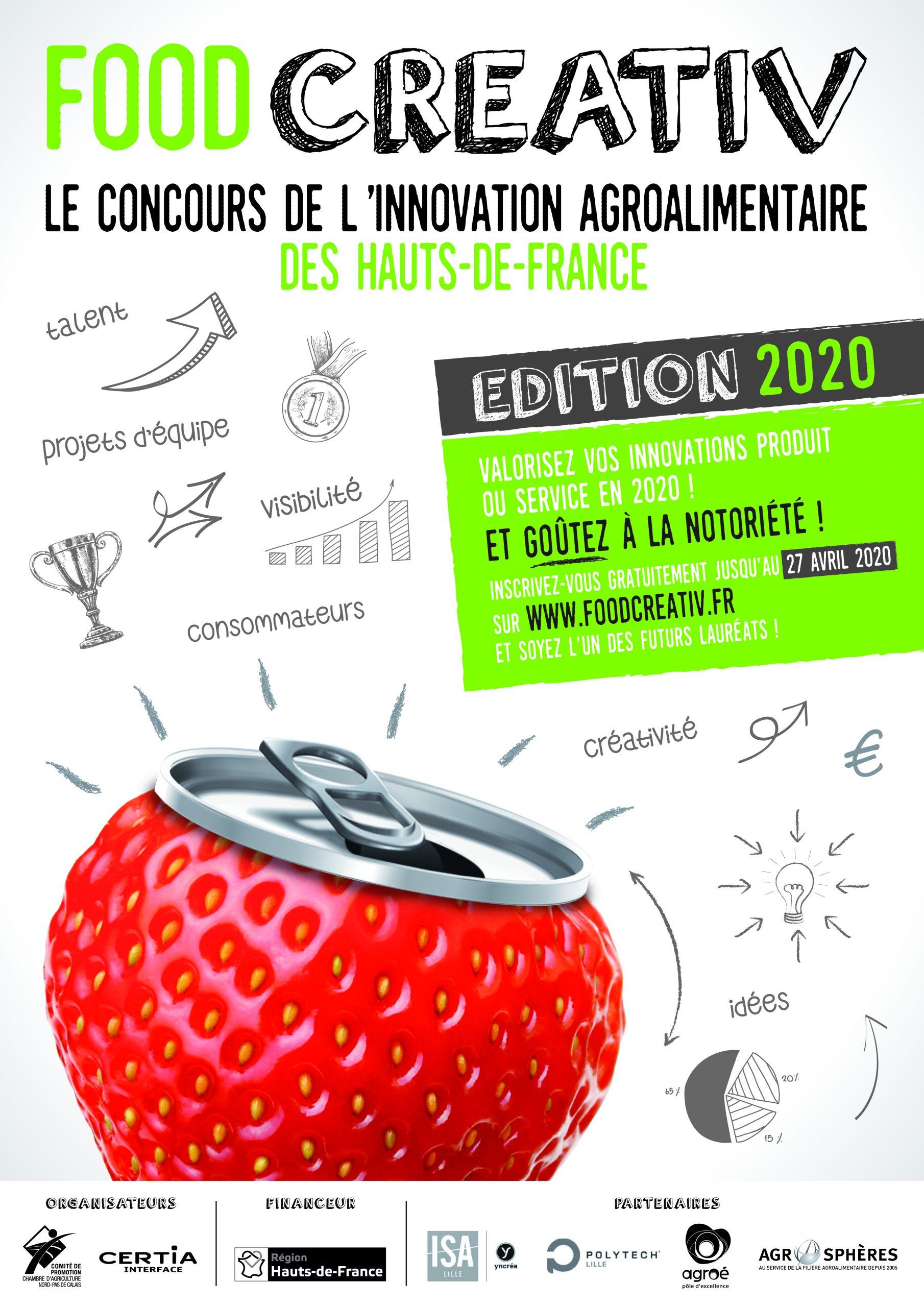 A3 CONCOURS INNOVATION 2020 OK 01 scaled - FOOD CREATIV, le concours de l'innovation alimentaire en Hauts-de-France
