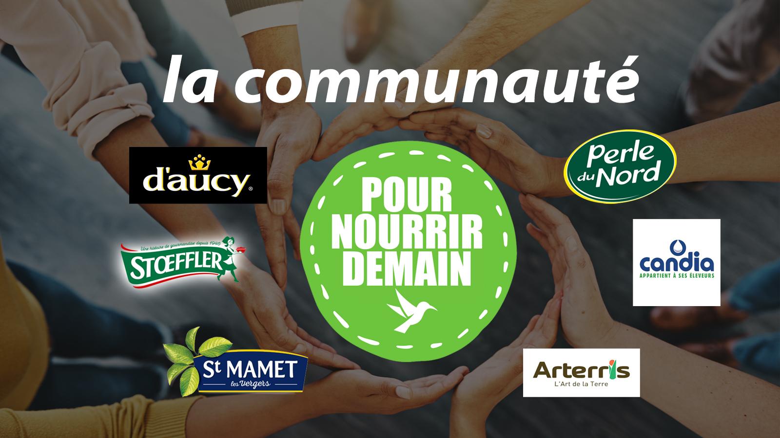 bandeau 3 - d'aucy, Stoeffler, Perle du Nord, Candia, Arterris et St Mamet rejoignent la Communauté Pour nourrir demain