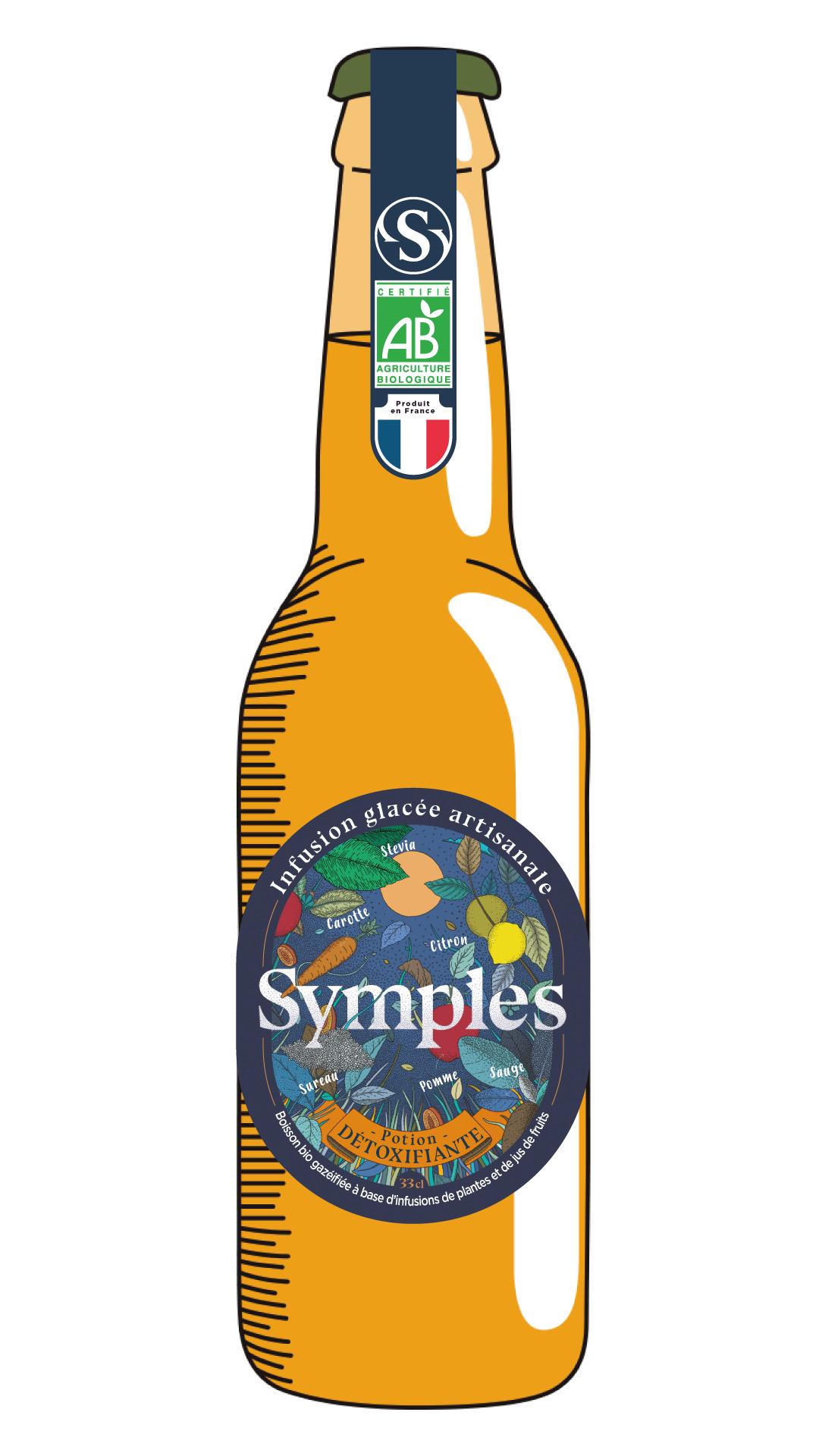 bouteille symples - Symples lance la la première boisson détoxifiante sans sucre ajoutés 100% naturelle et made in France