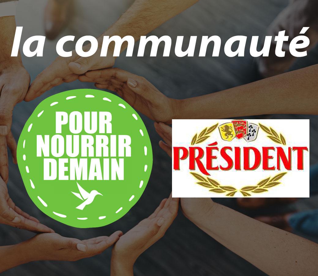 president - Président rejoint la Communauté Pour nourrir demain