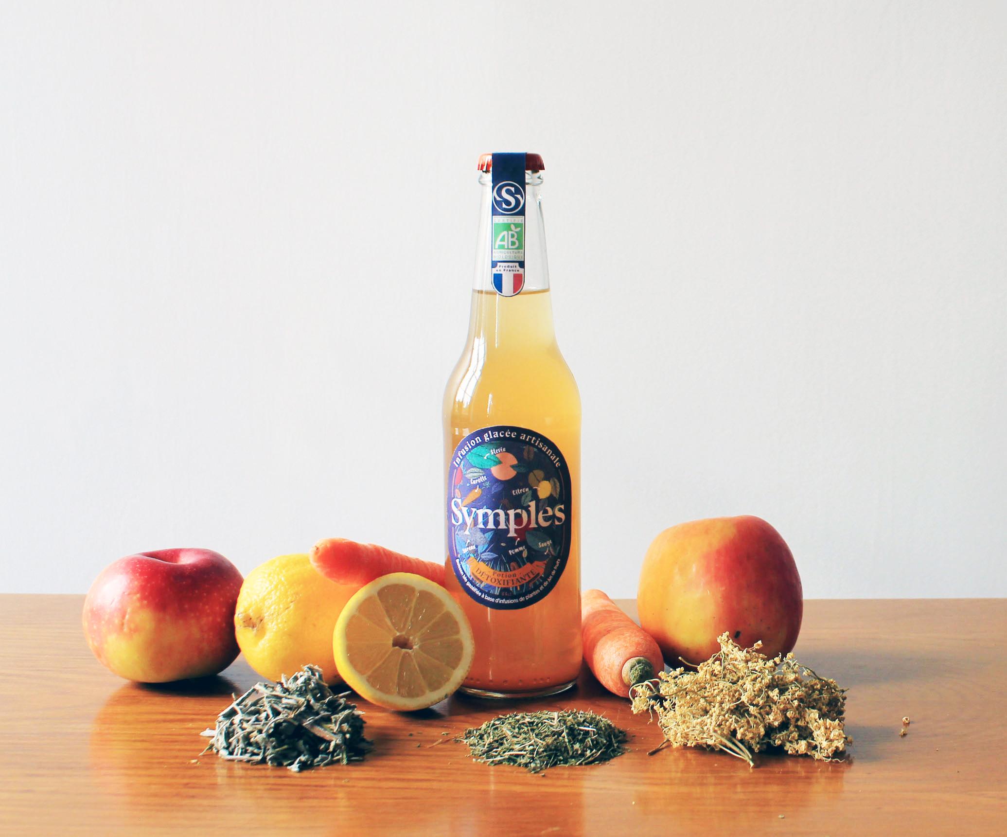 visuel symples - Symples lance la la première boisson détoxifiante sans sucre ajoutés 100% naturelle et made in France