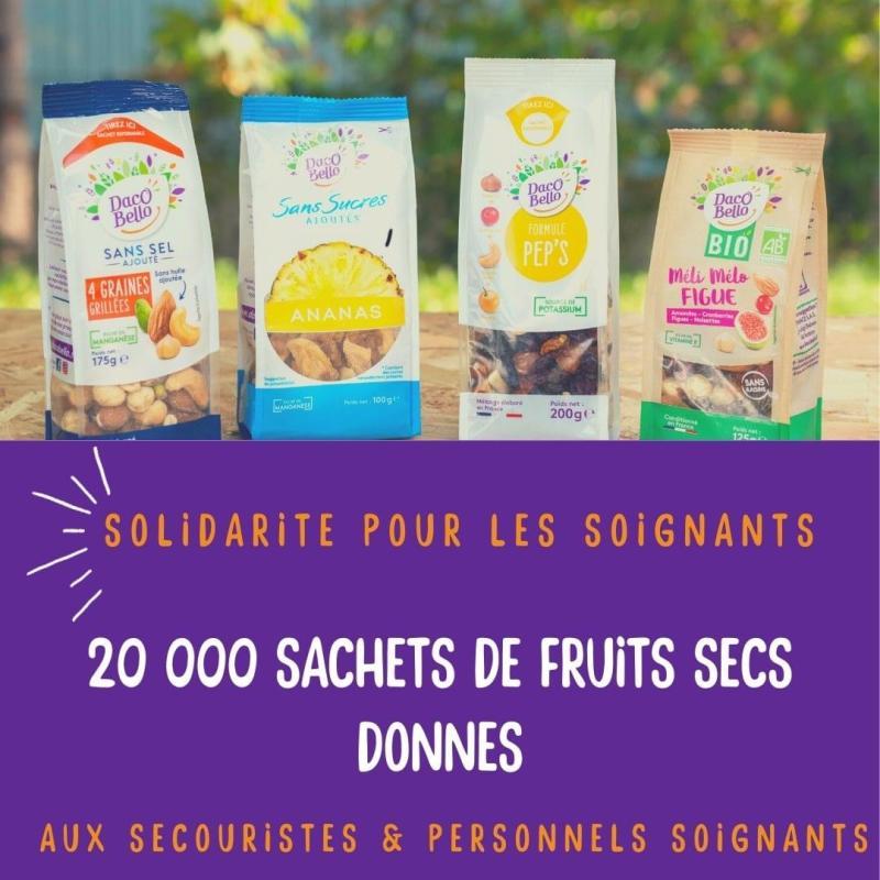 0 5 - Des sachets de fruits secs Daco Bello pour les soignants