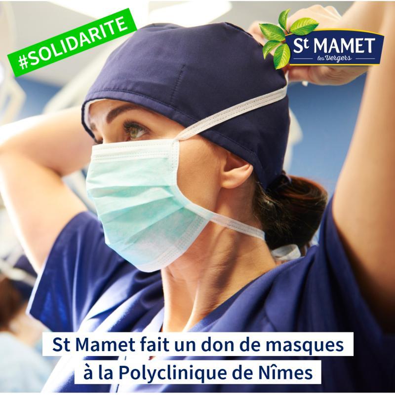 0 - St Mamet fait un don de masques à la Polyclinique de Nîmes
