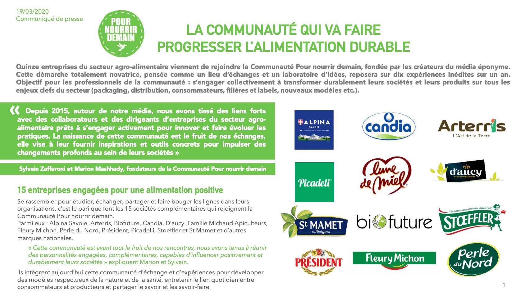Capture d'écran 2020 03 17 à 19.05.16 - La Communauté qui va faire progresser l'alimentation durable (Communiqué de presse)