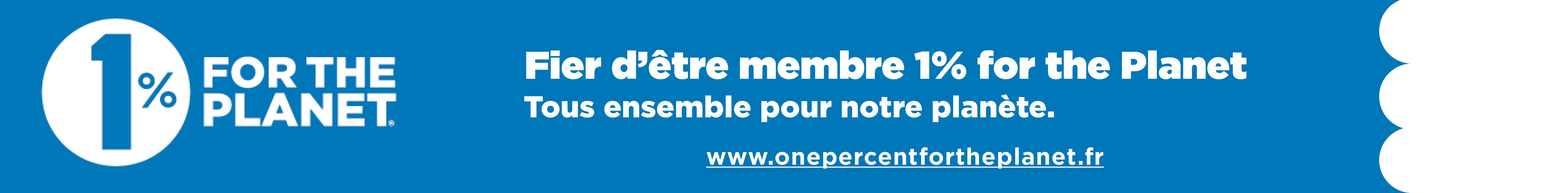Fier membre Tous ensemble fond bleu - Pour nourrir demain rejoint 1% for the Planet