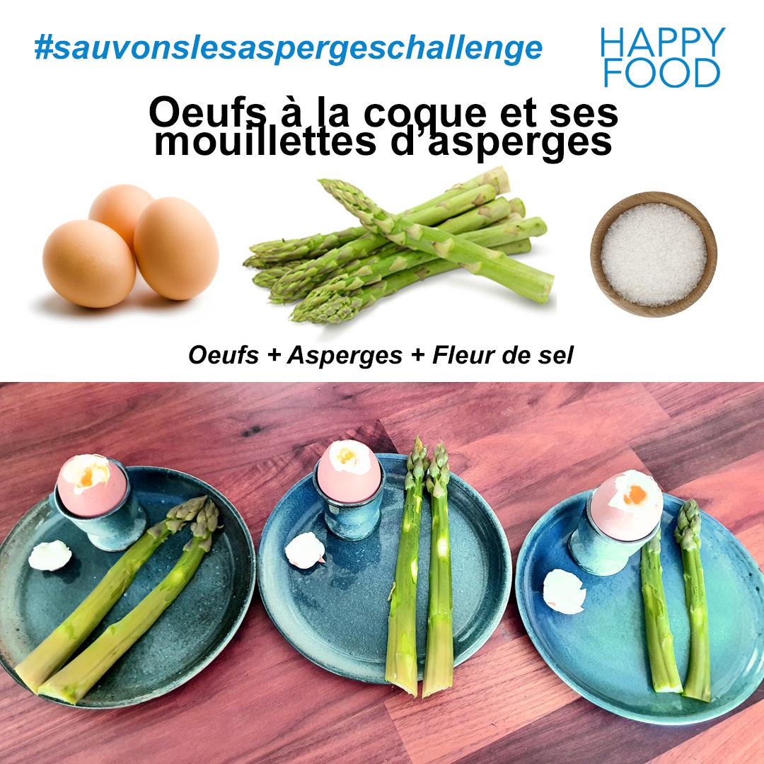 asperge - Happy Food lance un challenge pour soutenir les producteurs français d'asperge