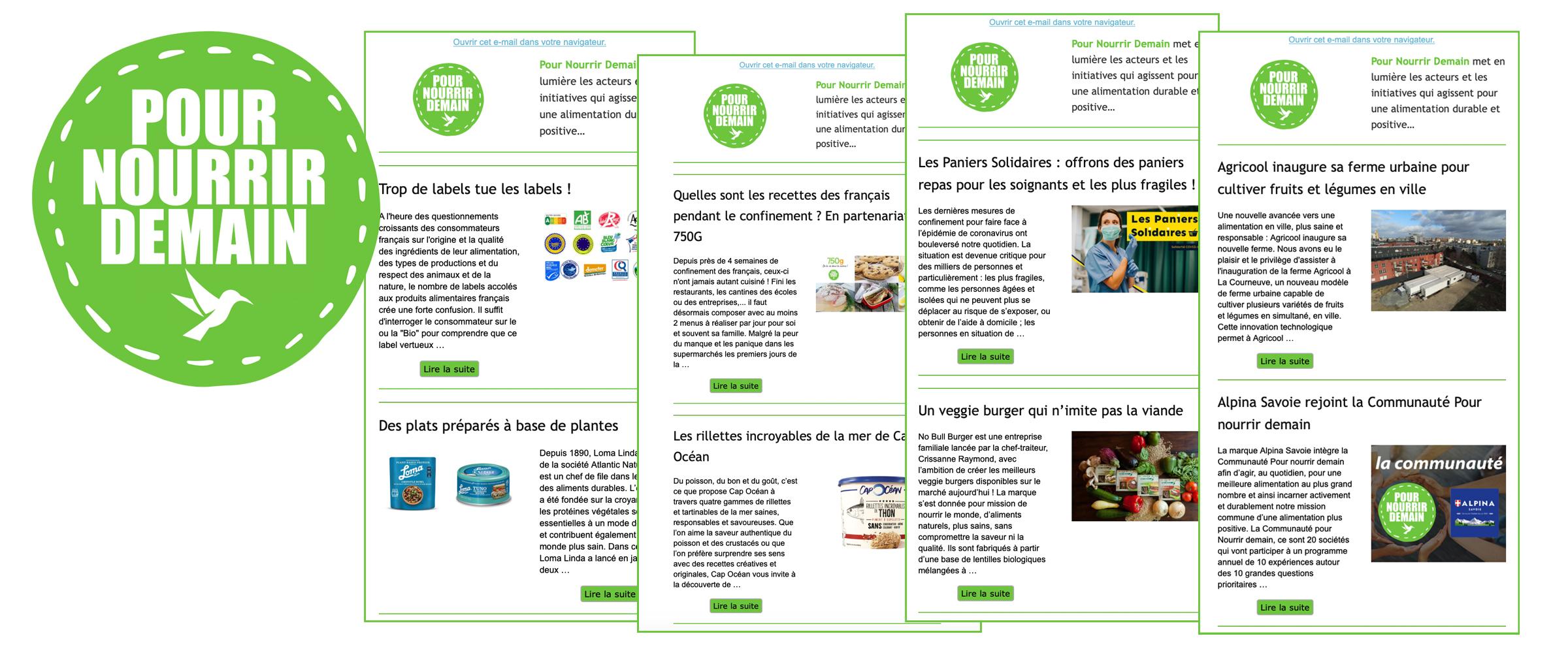 media pour nourrir demain - Abonnez-vous gratuitement à la lettre d'information Pour nourrir demain