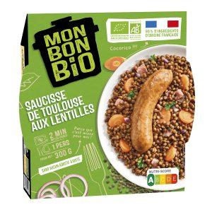 2002082 LBC Saucisse Lentilles 300g Trois Quart E Commerce 300x300 - Plus que du bio : du bon et du Made in France avec la nouvelle marque Mon Bon Bio !