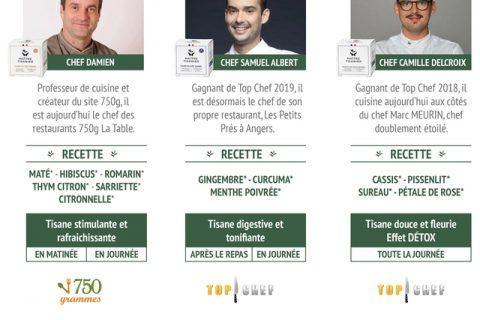 9529f2f68f8a984a6471e2188bb32723 480x320 - Trois chefs s'associent pour créer « Les Tisanes solidaires des Chefs »
