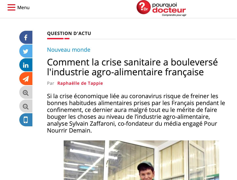 Capture d'écran 2020 05 29 à 06.59.37 - Comment la crise sanitaire a bouleversé l'industrie agro-alimentaire française - Pourquoi Docteur ?