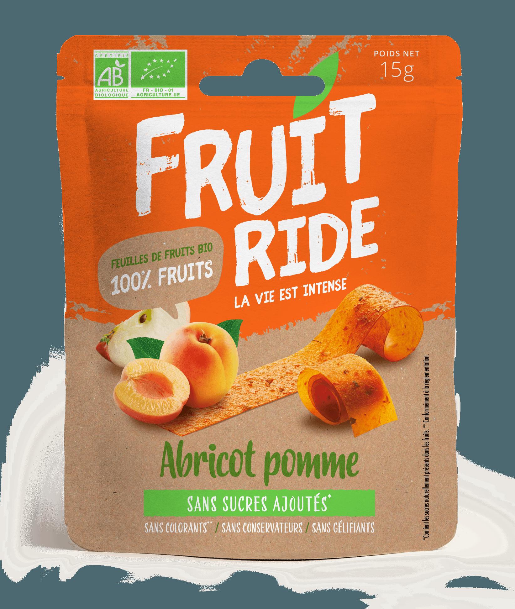 Fruit Ride ABRICOT RECTO - Des fruits en rouleaux