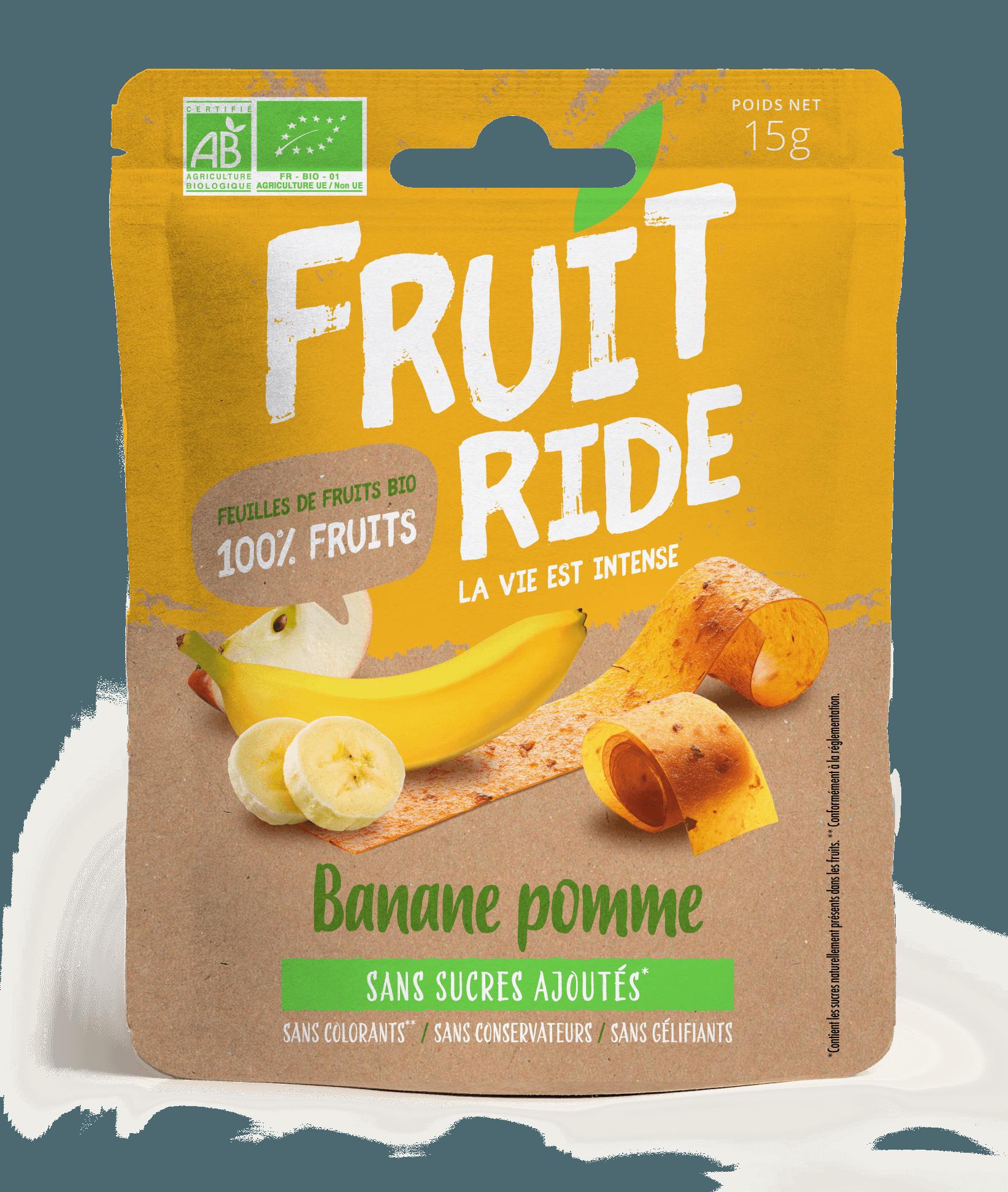 Fruit Ride BANANE RECTO - Des fruits en rouleaux
