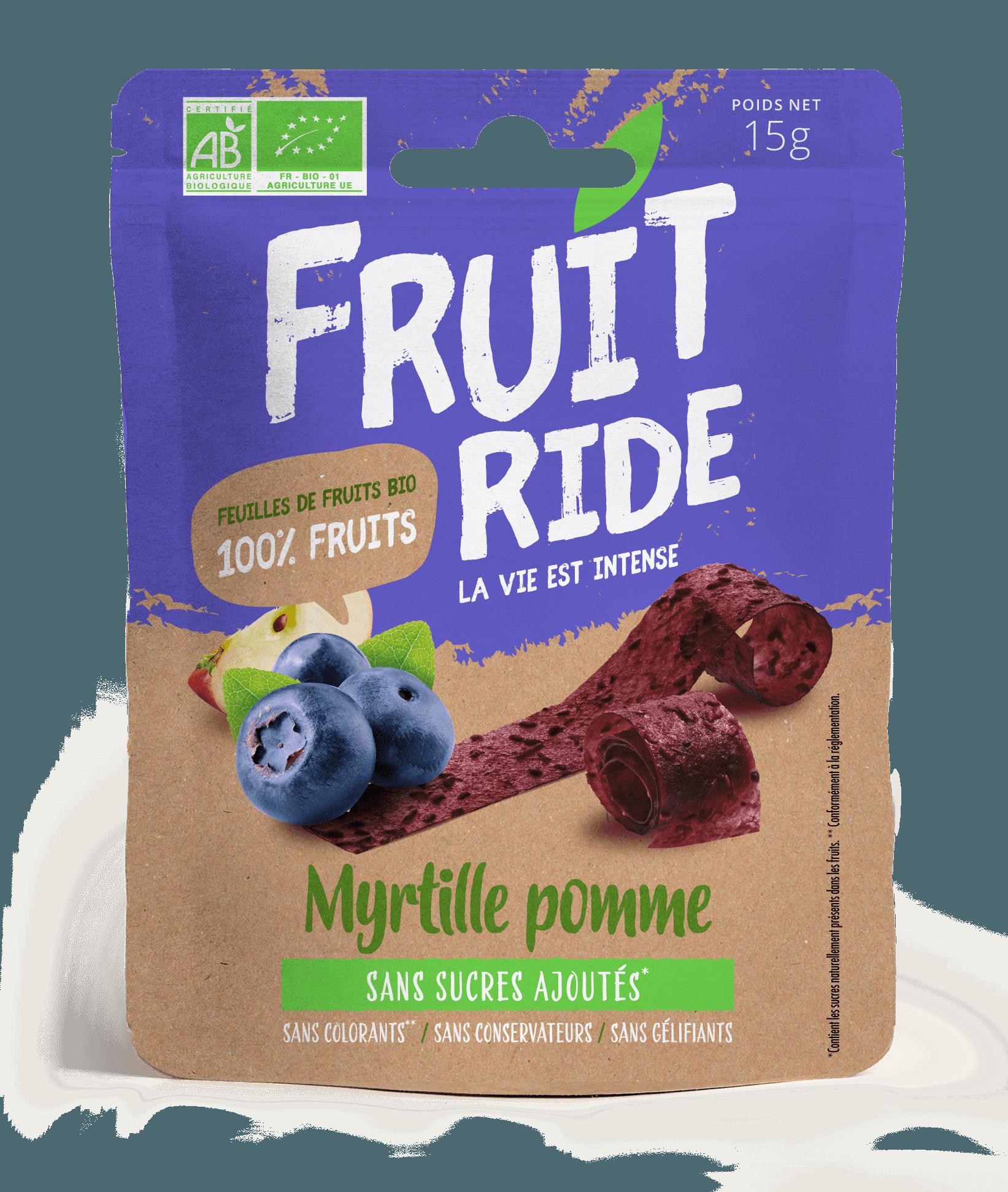 Fruit Ride MYRTILLE RECTO - Des fruits en rouleaux