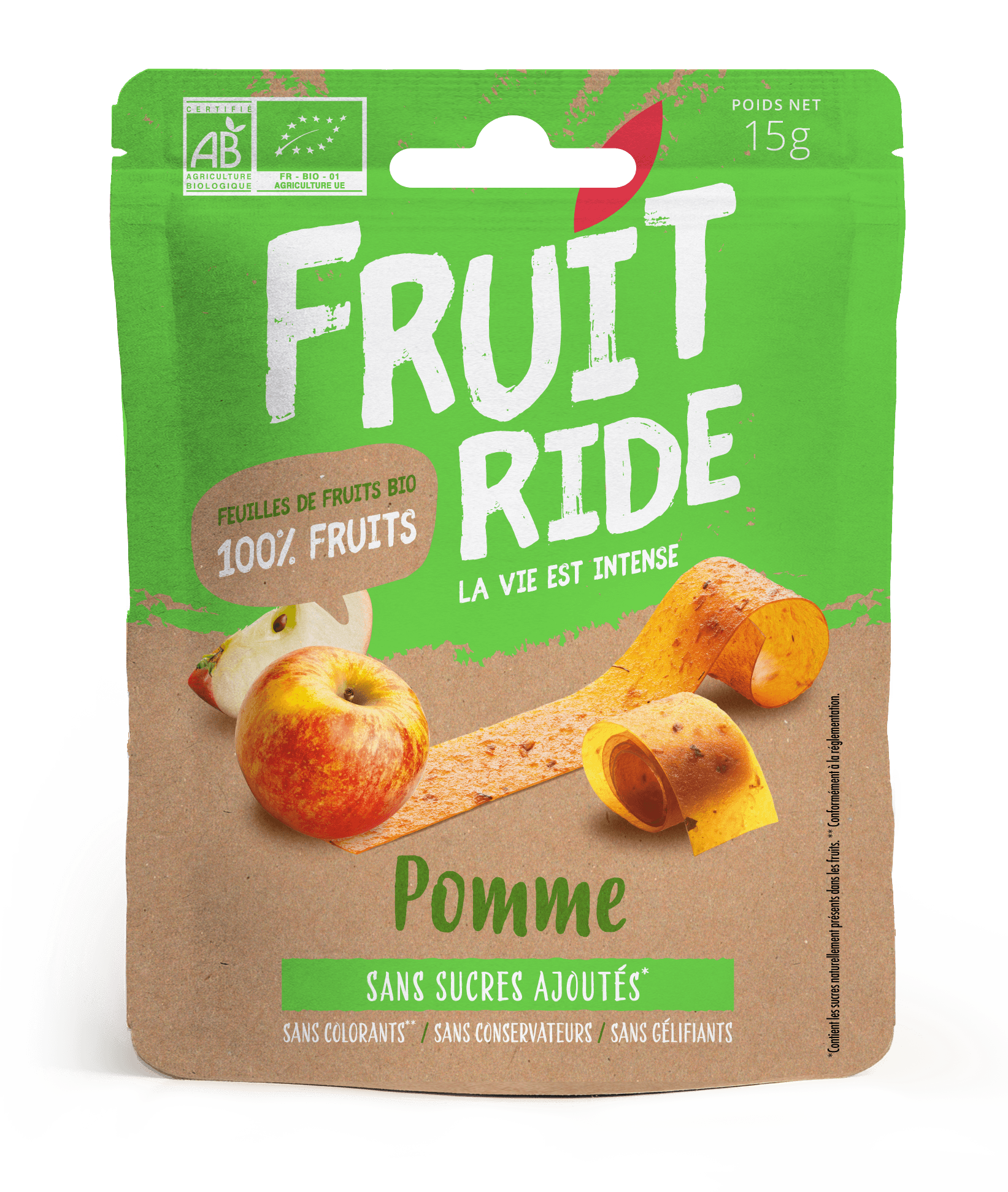 Fruit Ride POMME RECTO - Des fruits en rouleaux