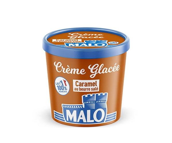 creme glacee caramel beurre sale malo - Malo propose une gamme de crèmes glacées