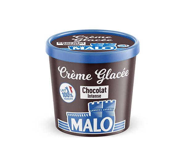creme glacee chocolat intense malo - Malo propose une gamme de crèmes glacées