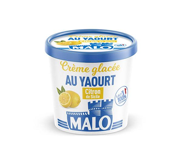creme glacee yaourt citron sicile malo - Malo propose une gamme de crèmes glacées