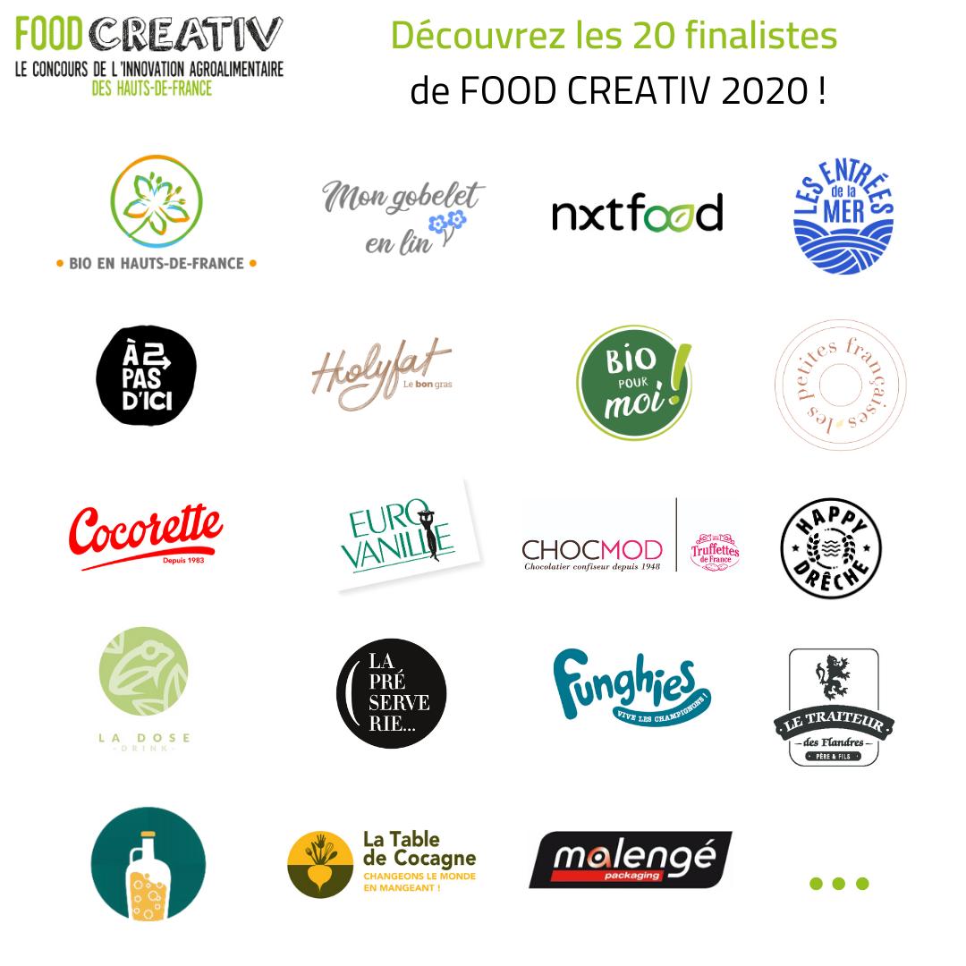 logo entreprises finalistes carré - Découvrez les 20 finalistes FOOD CREATIV 2020