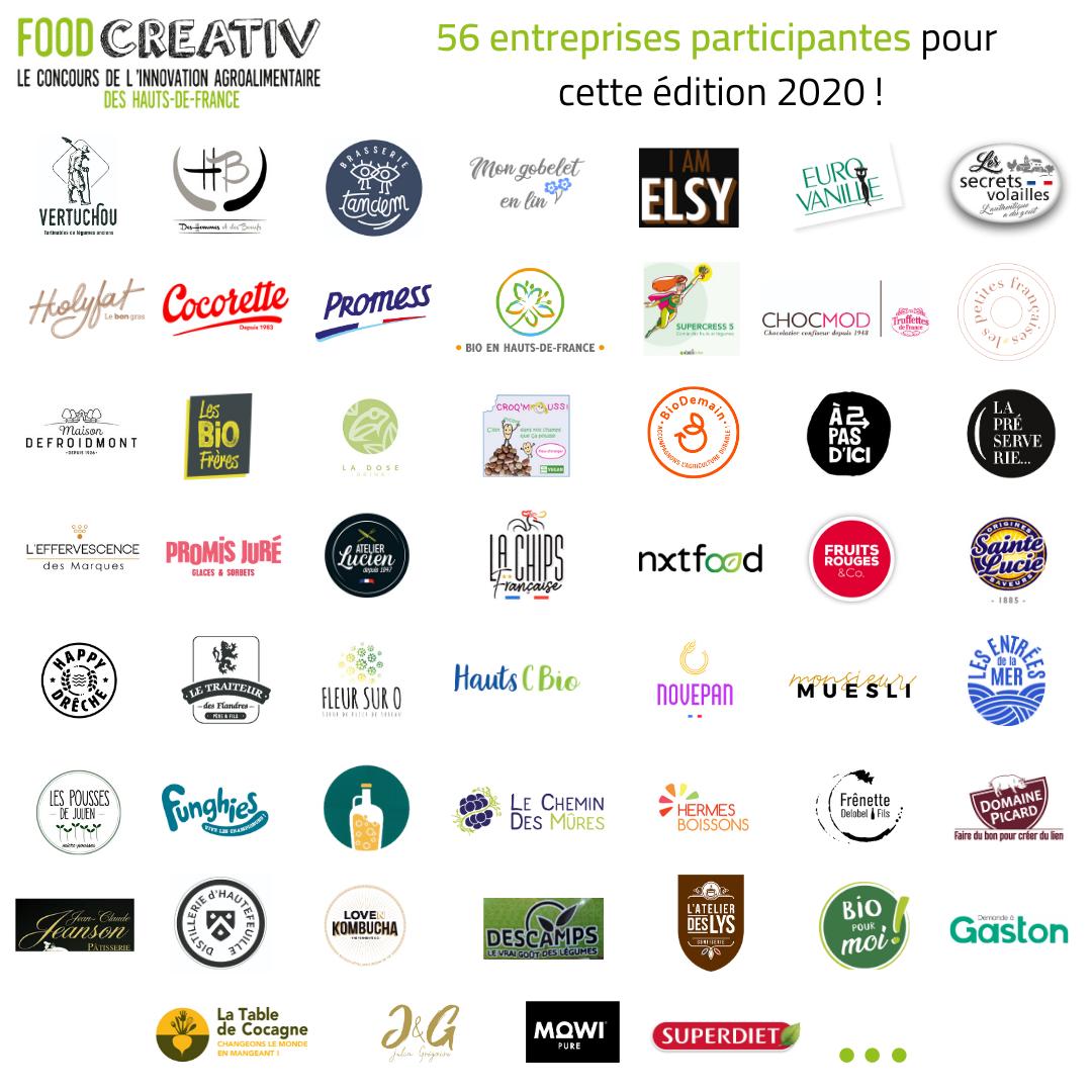 logo entreprises - 56 entreprises en lice pour le concours FOOD CREATIV 2020