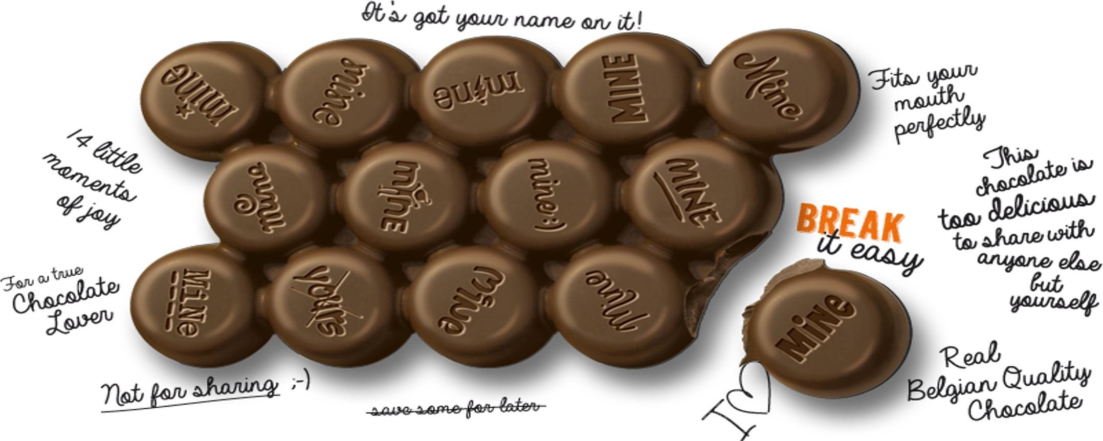 2 5 - Le chocolat qui ne se partage pas !