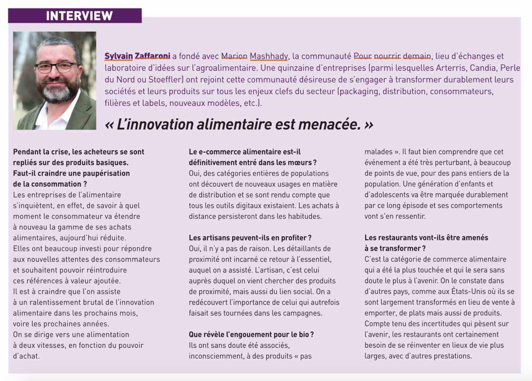 Capture d'écran 2020 06 03 à 18.06.48 - Interview dans le magazine Rungis actualité
