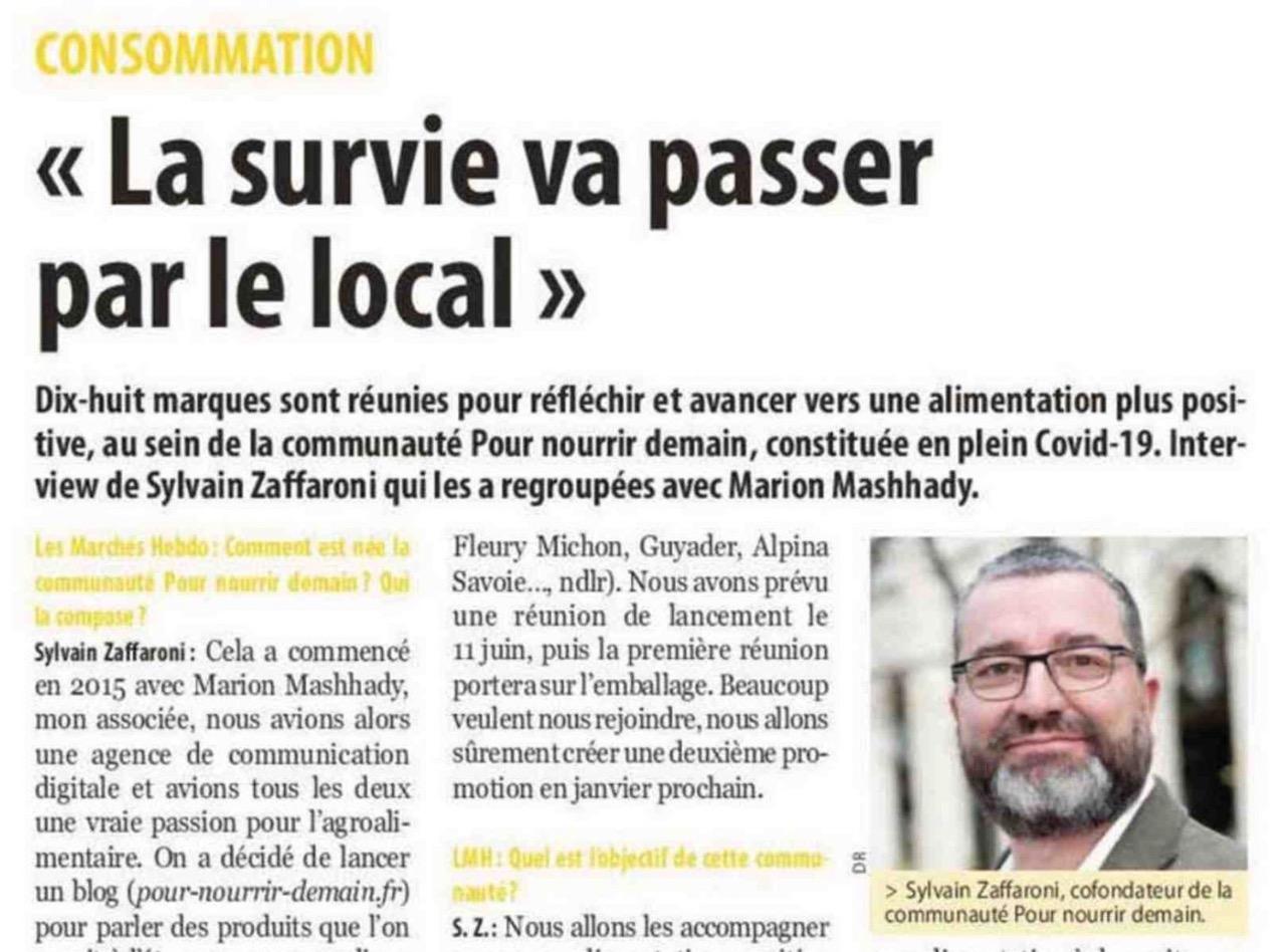 Capture d'écran 2020 06 15 à 09.08.36 - Interview Les Marchés Hebdo : Consommation « La survie va passer par le local »