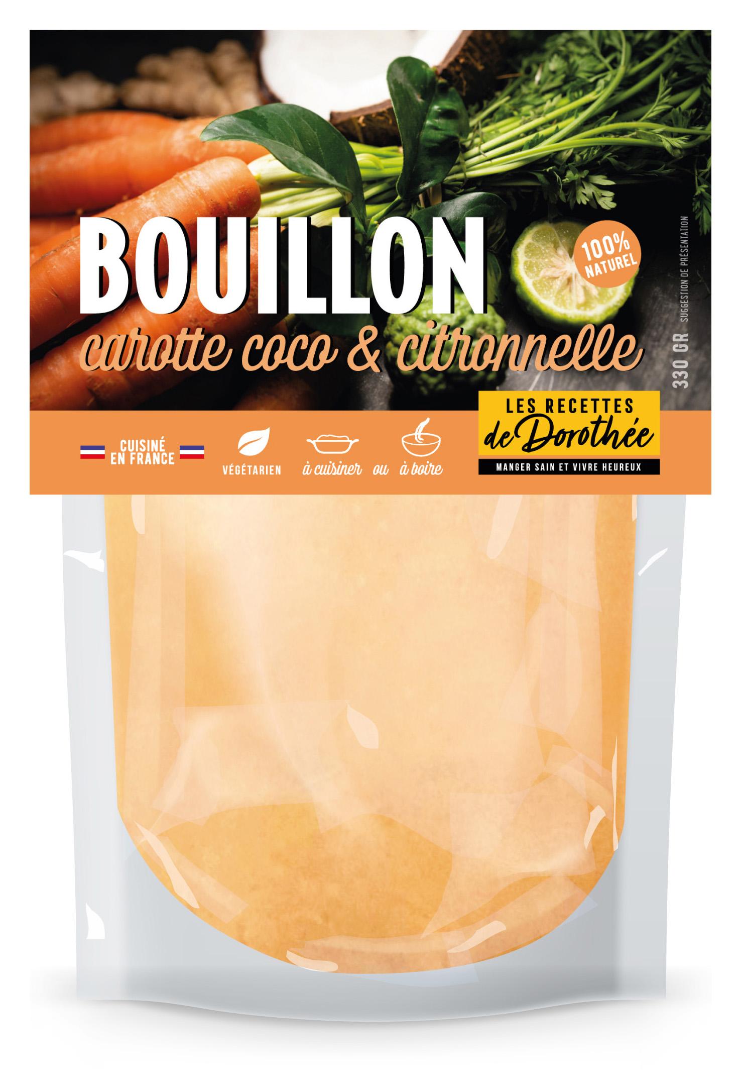 LRD Doypack carottes - BOUILLON, des bouillons frais 100% naturels