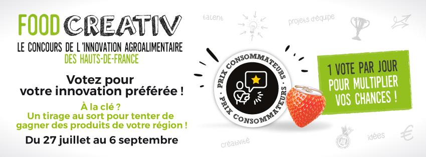 BANNIERE FOODCREATIV 850X315PX - Concours FOOD CREATIV : lancement du Prix Consommateurs 2020