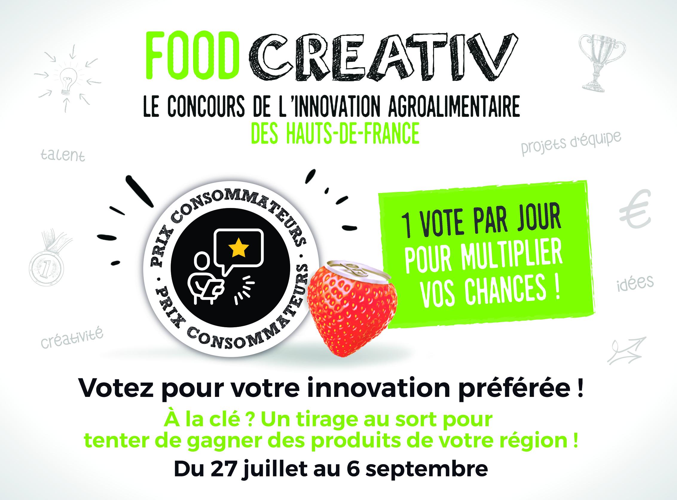 FACEBOOK - Concours FOOD CREATIV : lancement du Prix Consommateurs 2020