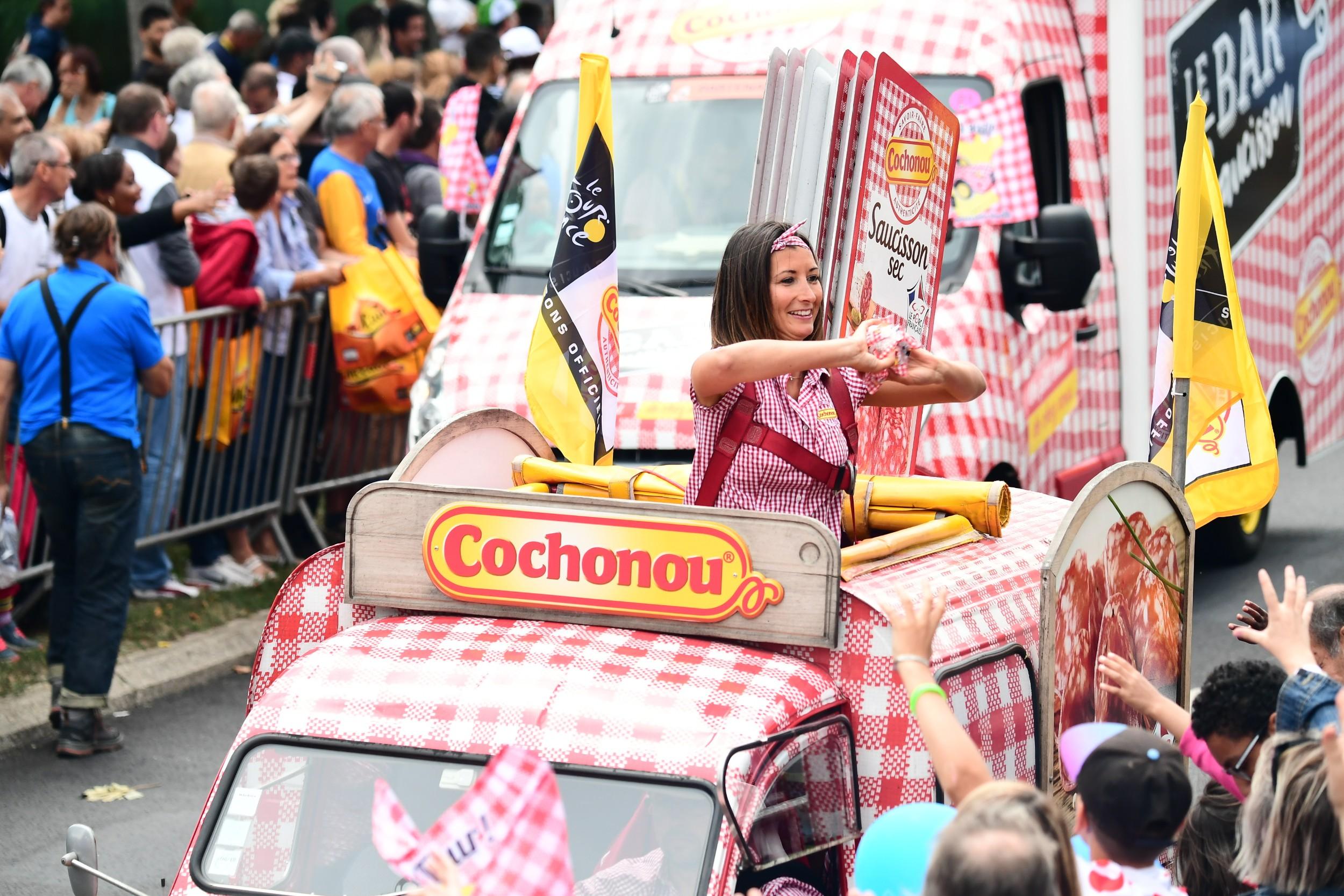 20170723TDF1069 ASO20Alex20BROADWAY - La caravane Cochonou du tour de France se met au RSE