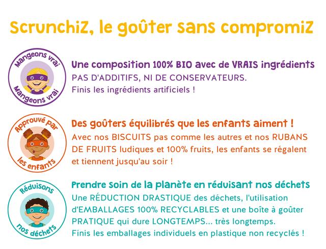 46752d3578257512ae5a3f03831b0fb6 - ScrunchiZ, des goûters bons pour les enfants et bons pour la planète