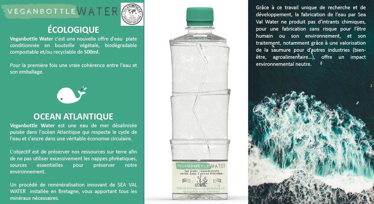 EditIYeWAAMYksT - De l'eau de l'océan conditionnée en bouteille végétale