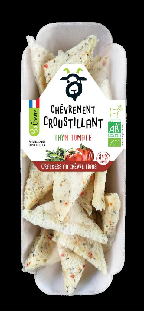 """Barquette 45g Crackers So Chevre Thym tomate 476x1024 - Des crackers """"chèvrement croustillants"""" pour compléter la gamme So Chèvre Apéro"""