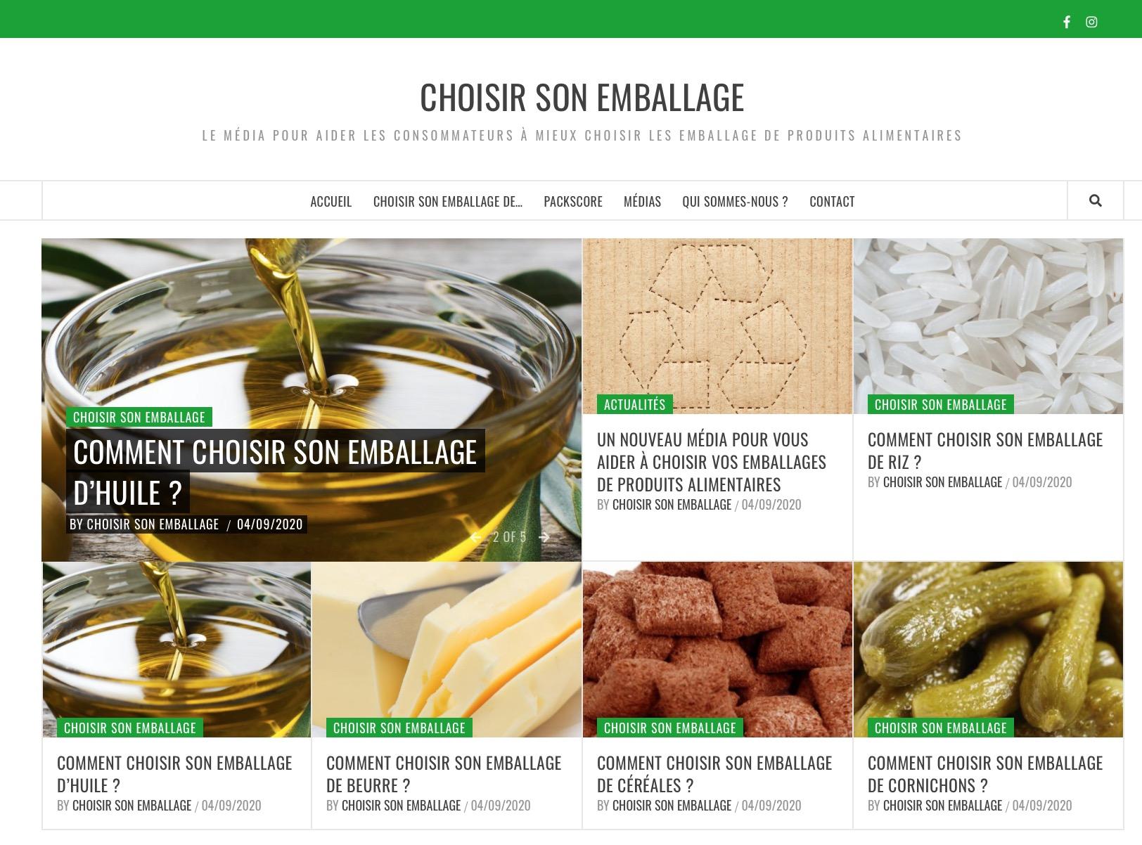 """Capture decran 2020 09 07 a 14.03.04 - """"Choisir son emballage"""", le média pour aider les consommateurs à mieux choisir les emballages des produits alimentaires"""