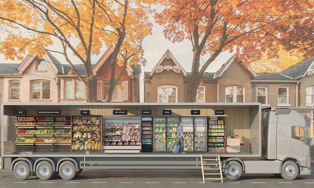 grocery neighbour 1 - Fini le supermarché, ce camion-épicerie arrive près de chez vous