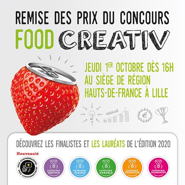 newsletter aout2020 600X600px 02 - Cérémonie de la remise des prix concours Food Creativ le 1er octobre à Lille