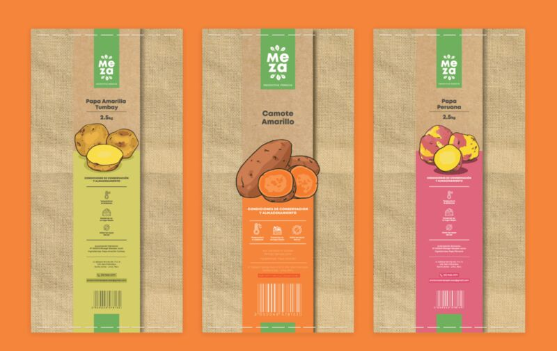 produce packaging design1 - Un emballage moderne qui attire l'attention