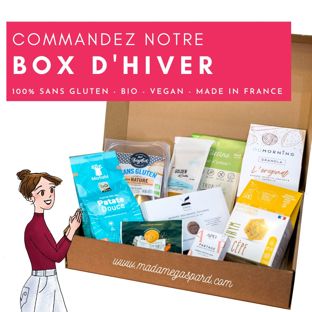 BOX SANS GLUTEN Edition Hiver 20 21 100 sans gluten BIO vegan made in France 4 - La box sans gluten de Madame Gaspard
