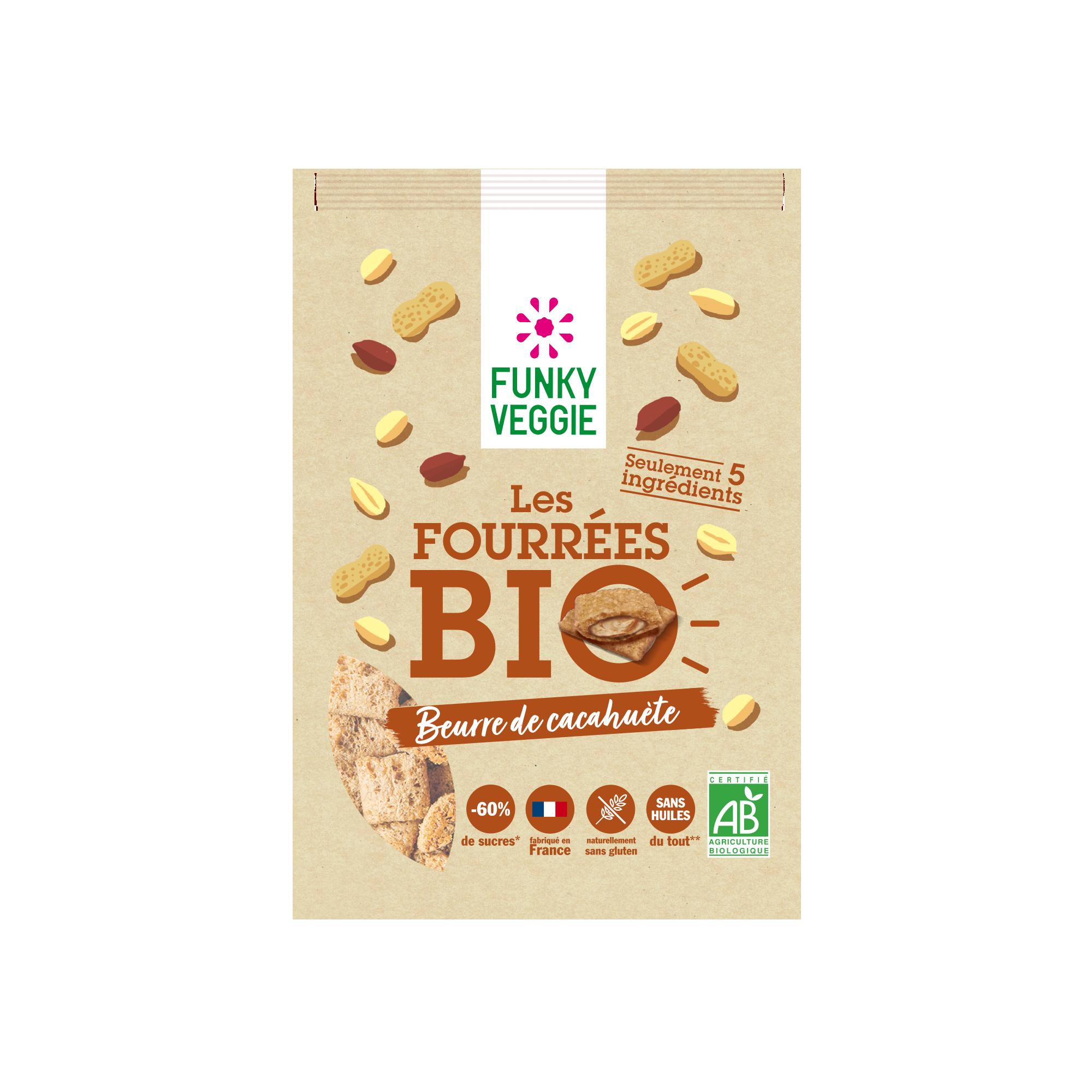 FUNKY VEGGIE Fourrees Bio Cacahuete 495E - FUNKY VEGGIE se lance dans le petit-déjeuner