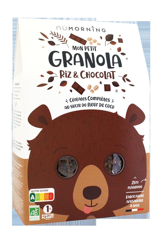 granola kids choco riz - nüMorning lance Mon Petit Granola