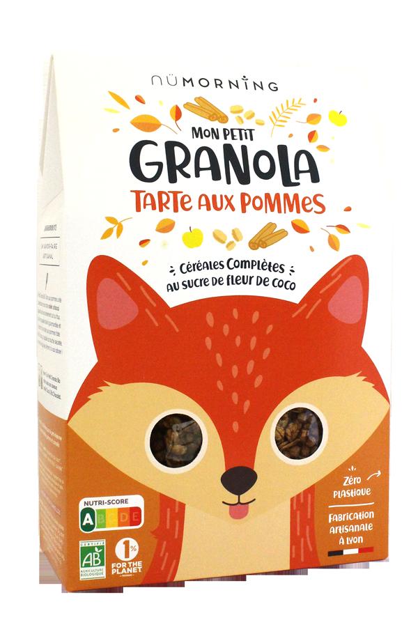granola kids tarte pommes - nüMorning lance Mon Petit Granola