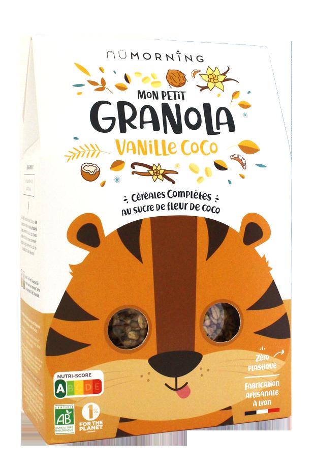 granola kids vanille coco - nüMorning lance Mon Petit Granola