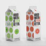 boxed flavored water 150x150 - Des eaux aromatisées dans des emballages à base de plantes