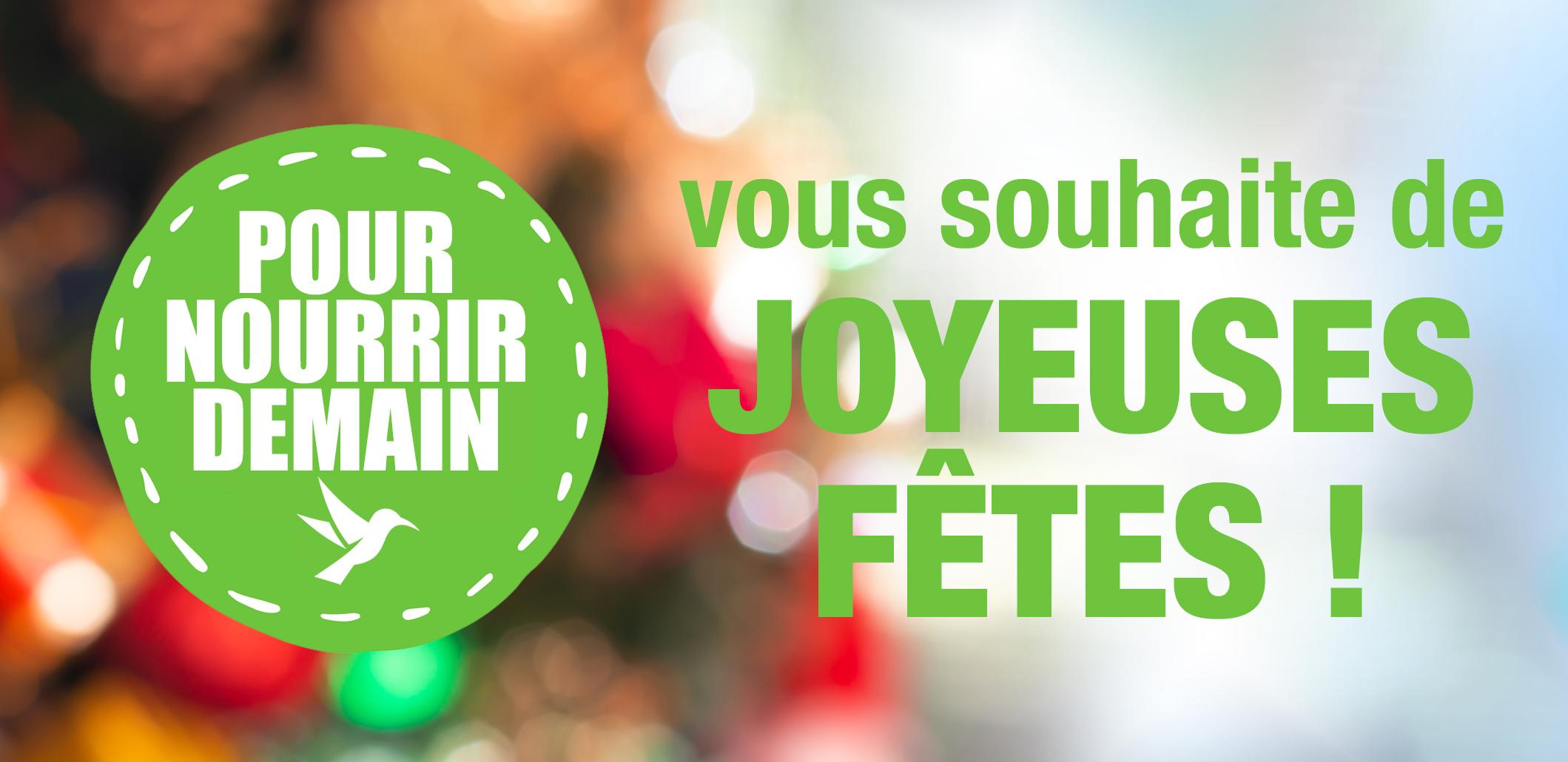 happyfeed - Pour nourrir demain vous souhaite de joyeuses fêtes !
