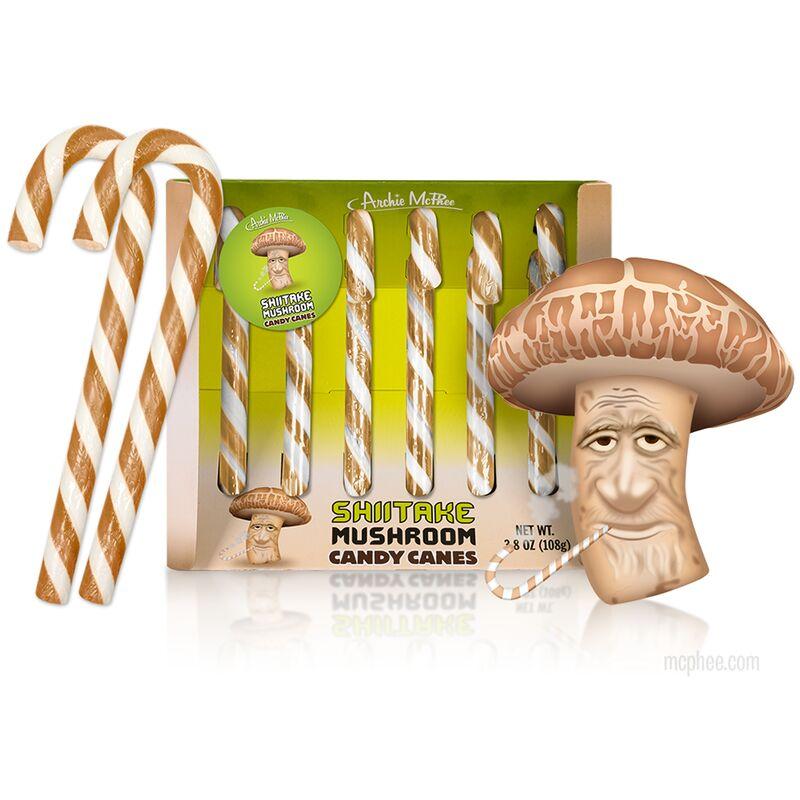 shiitake mushroom candy canes - Des bonbons aux champignons